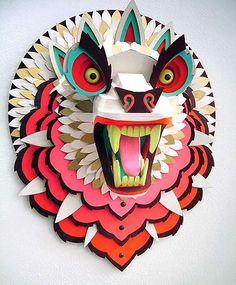mascaras maqueta de madera artista pictoplasma - Buscar con Google