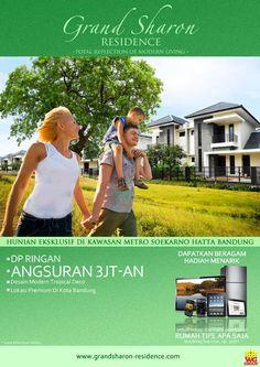 Hunian Ekslusif dengan Konsep Total Reflection of Modern Living & GO GREEN di Kawasan Metro Soekarno Hatta Bandung Indonesia Klik www.grandsharon-residence.com / Pin BB 24E8DEC7