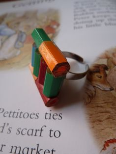 Coloured pencil ring £5.00