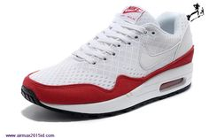 2015 Womens Nike Air Max 1 EM White/Red-White N554718-161