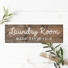 Laundry Room Sign, Hand Painted Sign, Rustic Sign, Farmhouse Decor, Modern Farmhouse,  Wall Art, Wood Sign