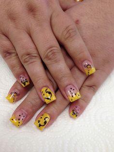 Winnie the Pooh Gel Nails by Janee Tittensor @ www.awildhairsalonreno.com