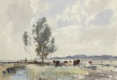 Edward Seago | Cattle on the Marshes, Norfolk