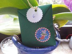 Abb. Adventskalender-Tütchen, gefüllt mit Räucherwerk, Inhalt je Tütchen mind. 2 g