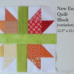 A Bright Corner: New England Quilt Block tutorial