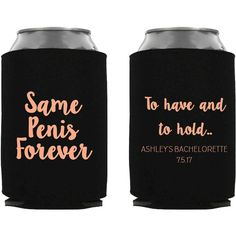 Same Penis Forever Can Coolers Beer Bachelorette Party Decorations Can... (390 HRK) ❤ liked on Polyvore featuring home, kitchen & dining, cozies, dark olive, drink & barware, drinkware, home & living, collapsible cart and collapsable cart