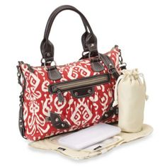 OiOi® Organic Cotton Diaper Bag Tote in Red - buybuyBaby.com wont be having df64859c18c33
