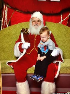 LITTLE BOY GETS SHIFTY EYED AROUND SANTA - Creepy Santa