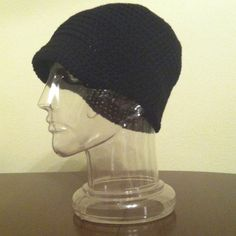 Black brim hat