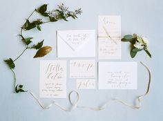 Calligraphy by milia-druckt.de, photography by peachesandmint.com
