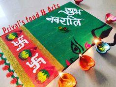 Rangoli Designs Latest, Rangoli Designs Diwali, Festival Rangoli, Navratri Special, Flower Rangoli, Hand Designs, Food Art, Scenery, Holiday Decor