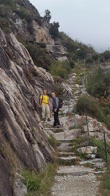 Salita in Val Codera 😊 relatori al convegno sul Castagno