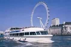 Book a Boat trip along the river thames in London and see the London Eye, Thames Barrier and Houses of Parliament. Enjoy dinner or lunch or take an evening cruise.