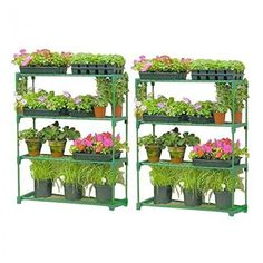 2 Separate Tier Greenhouse Shed Free Standing Plants Germination Tables Racking