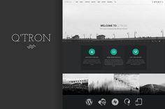 Q'tron - Business Portfolio WP Theme by WebMan Design on Creative Market