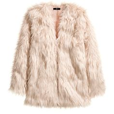 H&M Fake fur jacket (€16) ❤ liked on Polyvore featuring outerwear, jackets, coats, fur, dusty pink, faux fur lined jacket, pink jacket, fake fur jacket, pink faux fur jacket and faux fur jacket