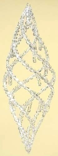 """Beaded tutorial for a seed bead christmas ornament of a """"twisted icle"""