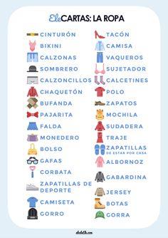 🃏 Ele Cartas: La ropa [Dobble – spot it] | abcdeEle