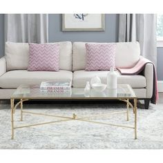 Safavieh Inga Gold Coffee Table - Overstock Shopping - Great Deals on Safavieh Coffee, Sofa & End Tables
