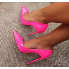 Neon pink pointed toe stiletto heels www.ScarlettAvery.com https://ladieshighheelshoes.blogspot.com/2016/10/womens-shoes.html                                                                                                                                                                                 More