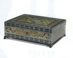 Copper, Brass, Antique Boxes, Louis Xiv, Marquetry, Treasure Chest, Pewter, Decorative Boxes, Antiques