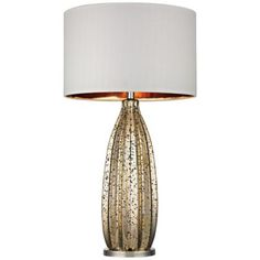 Dimond Pennistone Gold Mercury Glass Table Lamp -