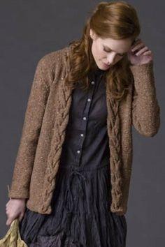 Rosewood Cardigan FREE knitting pattern     Tahki Stacy Charles