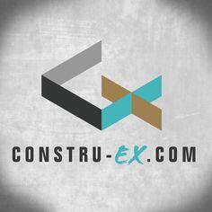 Logo para página web Construex. Plataforma de venta y compra en el rubro de la construcción.