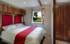 Victory Grovewood 2017 MAIN BEDROOM #red #darkwood #interior