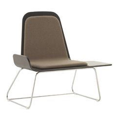 Guitarra Seat - Estudio Mariscal  2 steel frames / 1 laminated wood /upholstery / location- house ( living room ) / function - can put things  chair