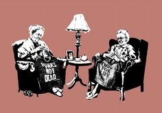 Banksy knitting grannies:  will this be me one day....or is it already me????