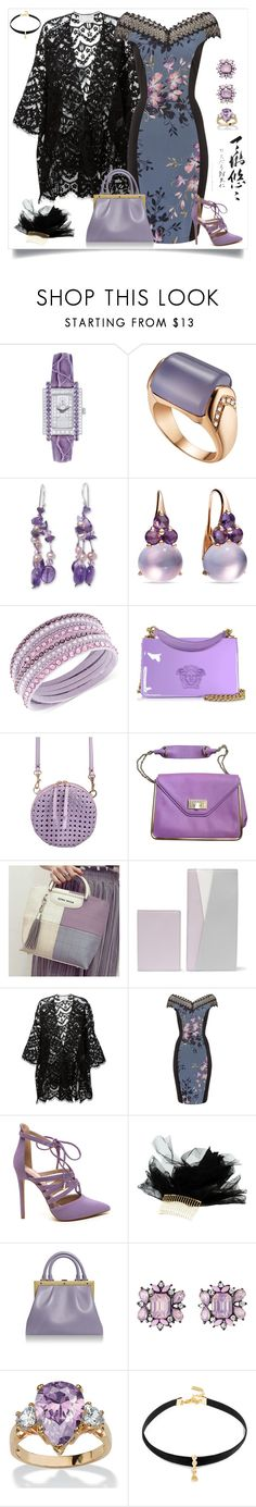 """Pack and Go Tokyo"" by yours-styling-best-friend ❤ liked on Polyvore featuring Bulgari, NOVICA, Pomellato, Swarovski, Versace, Benedetta Bruzziches, Chloé, Smythson, Little Mistress and Maison Michel"