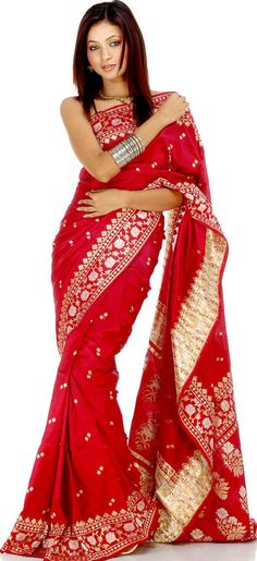 A sari is traditional Indian dress that dates back to the Indus Valley Civilization as far back as 2800-1800 BC. Hindu culture believes that any cloth pierced by a needle was impure, so saris were woven of pure cotton. Over time, silk and other threads were woven together on hand looms to make intricate designs and patterns...