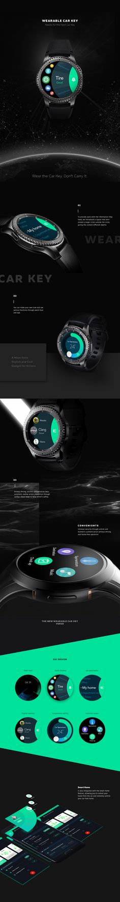 """Check out this @Behance project: """"Wearable Car Key UI Design"""" https://www.behance.net/gallery/46238343/Wearable-Car-Key-UI-Design"""