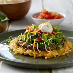 This Hash Brown Tostadas recipe is courtesy of A Communal Table, a part of the U.S. Potato Board's Potato Lovers Club Program.
