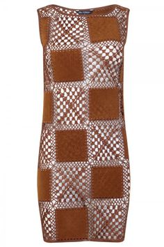 crochet leather dress
