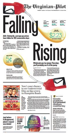 The Virginian-Pilot's front page for Tuesday, Dec. 30, 2014.