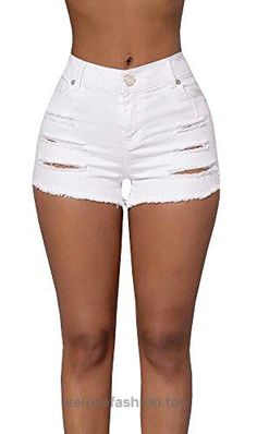 Ermonn Women's Casual high waisted Distressed Ripped Stretch Denim Shorts Jeans  BUY NOW     $12.99      This is Asia size, pls you could choose 1-2 larger size than your normal    Denim ,Ripped, Cotton Spandex, Button and zip-fly, blue, black, white    High quality ..