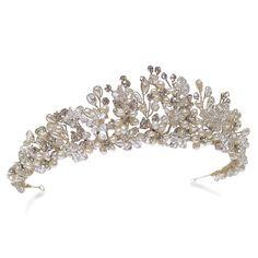 Ivory and Co Esmerelda Gold Tiara - Bridal Jewellery - Crystal Bridal Accessories
