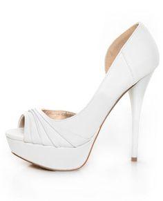 Such a sexy white heel.