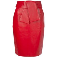 BALENCIAGA leather pencil skirt ($138,860) ❤ liked on Polyvore featuring skirts, bottoms, saias, red, gonne, knee length leather skirt, red pencil skirt, leather skirt, red leather skirt and high-waisted skirts
