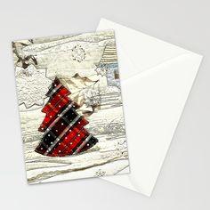 Winter Landscape Stationery Cards by Bozena Wojtaszek   Society6