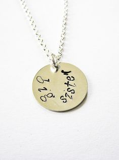 personalized big sister necklace - big sister gift by RobertaValle