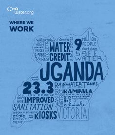Uganda | 23.3 million people do not have access to improved sanitation facilities. | #WhereWeWork | Water.org