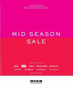 Myer Catalogue Mid Season Sale 22 - 30 Mar 2016