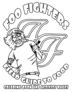 Foo Fighters actual tour rider..yes their rider is in the form of a coloring book...it was all Gus.