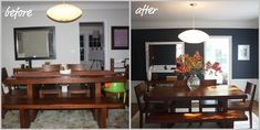 It's amazing what a little paint and decluttering can do