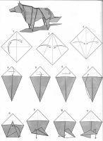 Lobo estepario 01 (Patricio Kunz - Origami Tanteid by BolsitaDweed