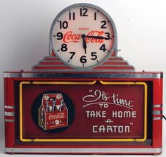 "1937 counter clock outstanding piece in outstanding condition. Works perfectly displays even better. 25"" across, 24"" tall. Appears all original with no touchup. Some wear on chrome bands, chips and scratches on can, some rust on side. Glass, neon and clock are beautiful"