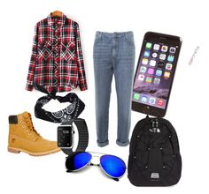 """""""A Guy's Outfit"""" by rennygood ❤ liked on Polyvore featuring Timberland, The Seafarer, ASOS, Revo and The North Face"""